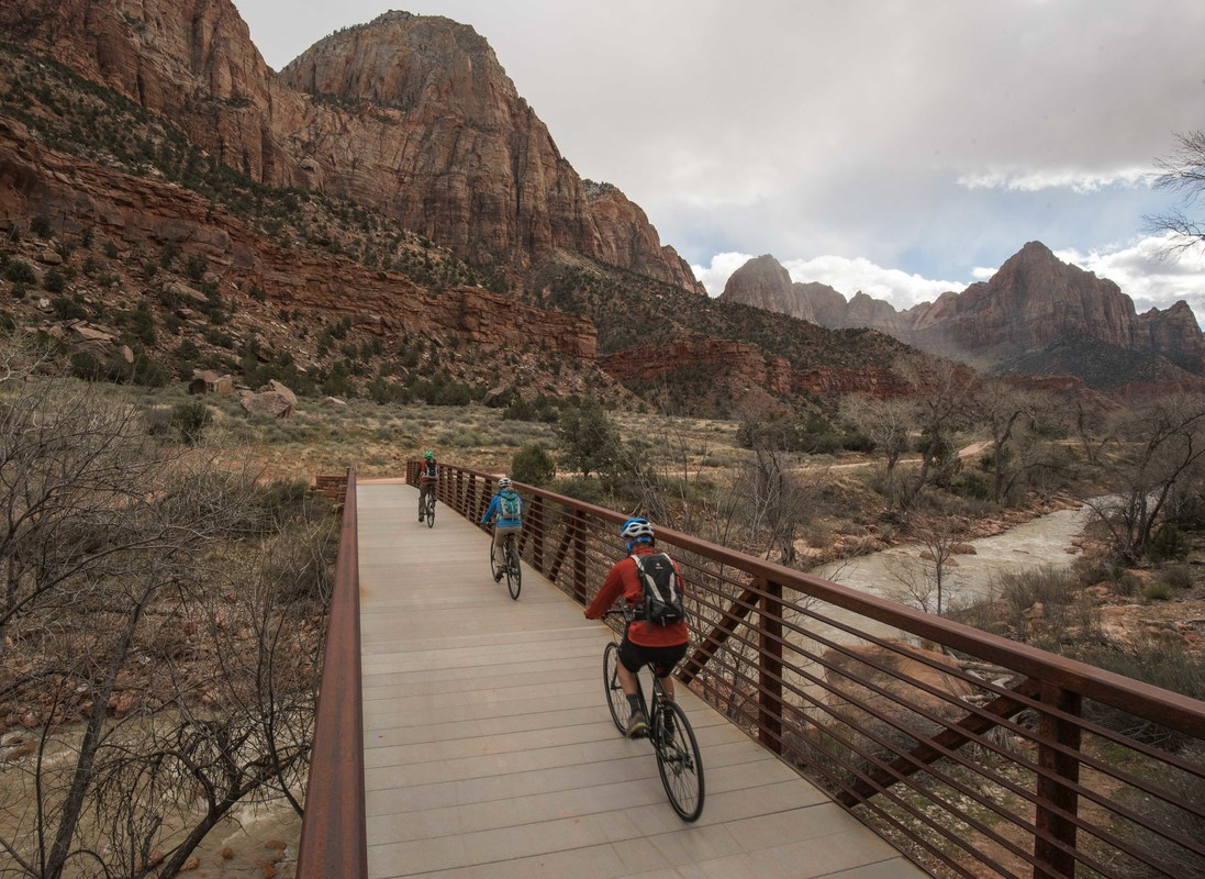 Zion Canyon Biking